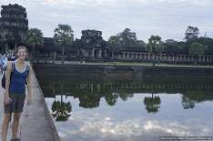 the outside of Ankgor Wat