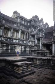 Barbara inside of Angkor Wat