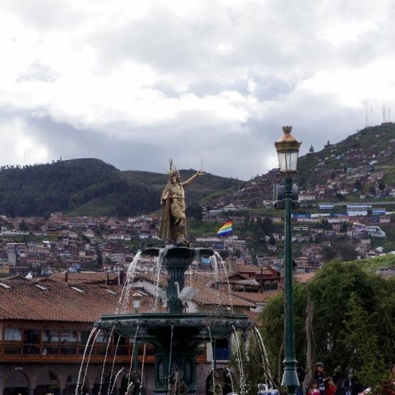 Fountain at Plaza de Armes