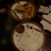 Clean Plate Club for Ron... not so much for Barbara