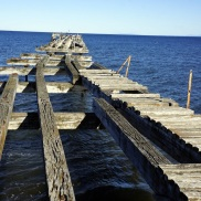 pier in the Strait of Magellan